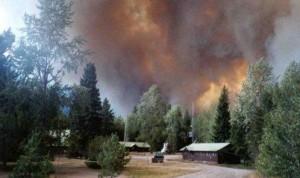 Moose Fire behind Big Creek