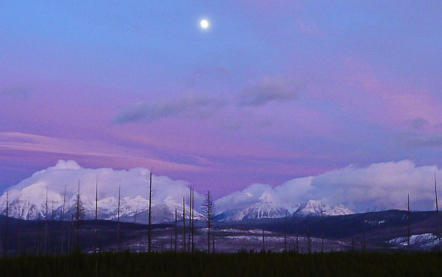 North Fork and the moon - photo by Mark Heaphy