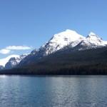 Rainbow Peak on Bowman Lake