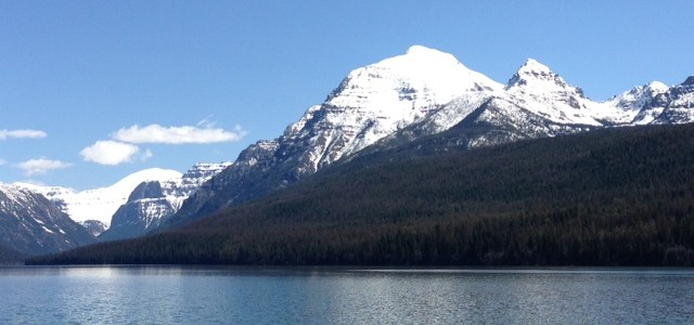 Rainbow Peak on Bowman Lake