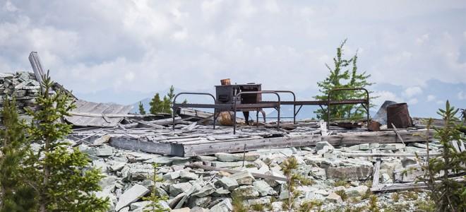 Ruined lookout on Thompson-Seton