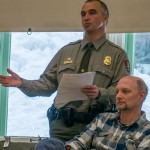 Kyle Johnson from Glacier National Park and Tim Manning from FWP