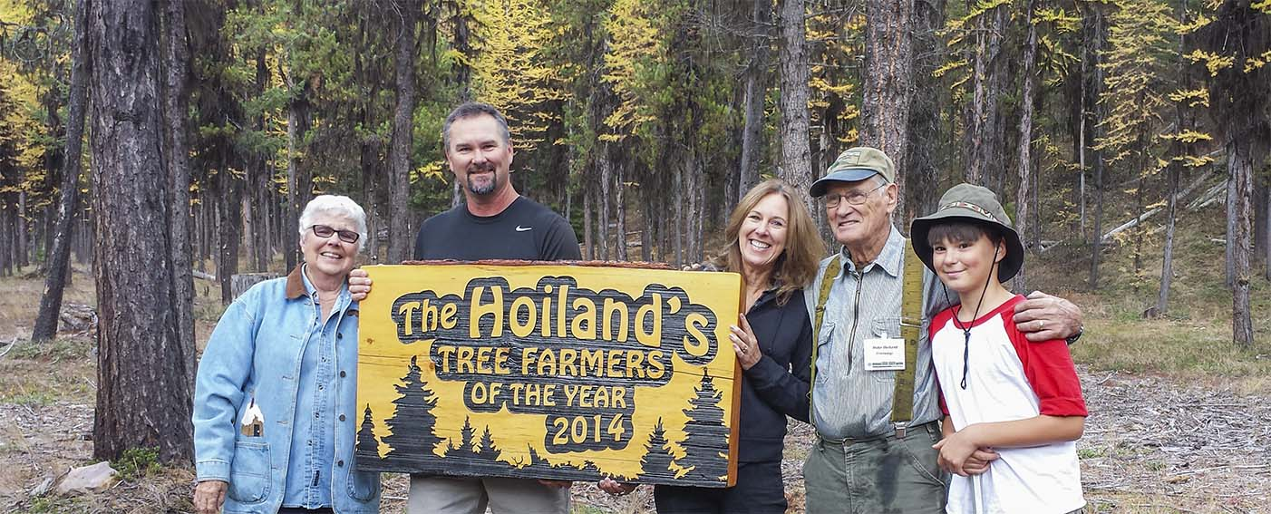 Hoiland's won the Western Regional Outstanding Tree Farmer of the Year