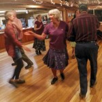 Debo Powers leading the square dancing