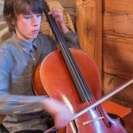 Young master Triem serenaded us with Thanksgiving songs on his cello