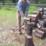 Alan chopped wood
