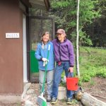Margaret & Suzanne cleaned the outhouses
