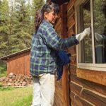 Rachel cleaned windows