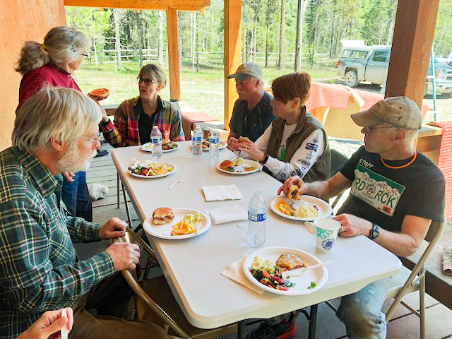 A well earned lunch   photo by Suzanne Daniel
