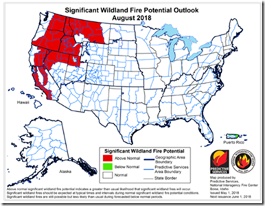 2018 Fire Outlook - August