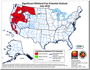 2018 Fire Outlook - July