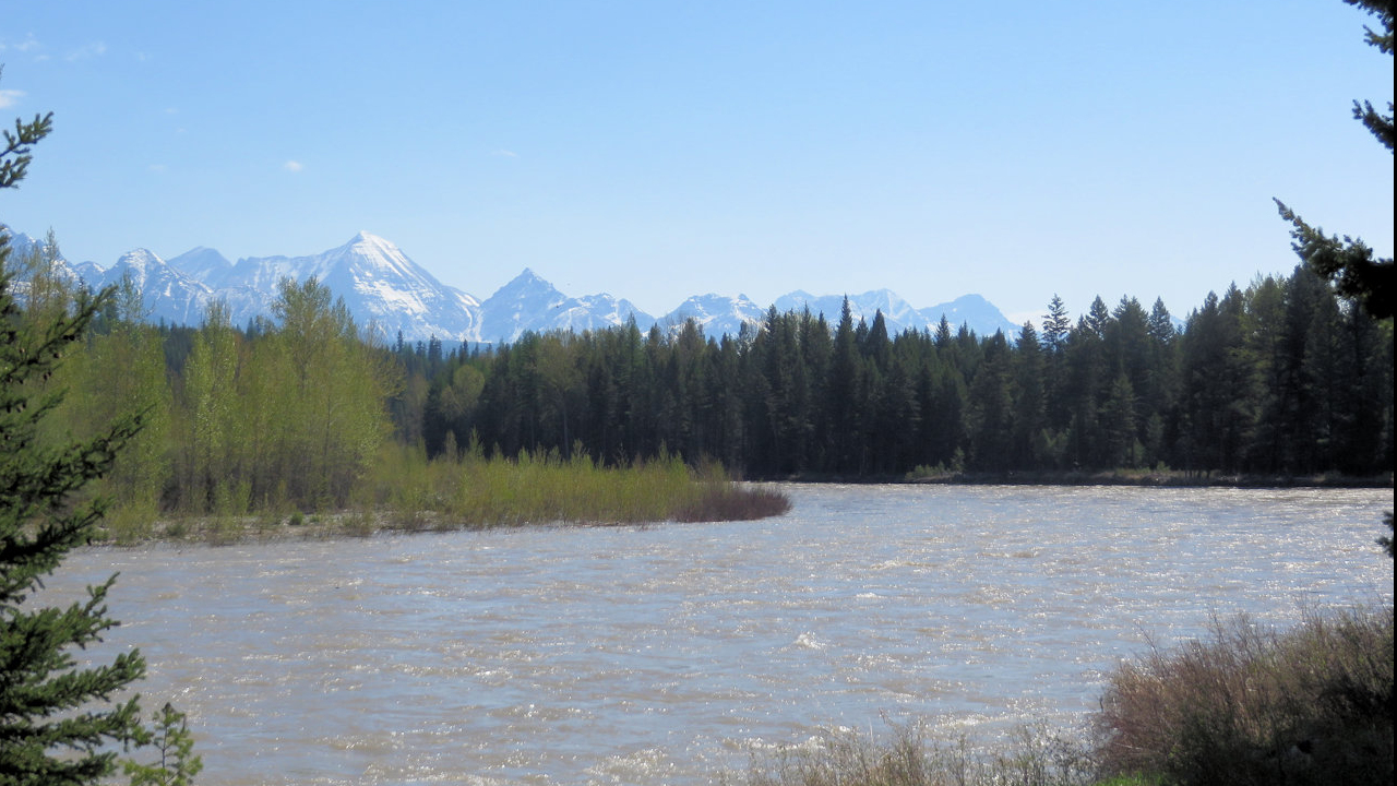 North Fork Flathead River, May 16, 2018 - by William K. Walker