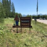 New Smokey Bear-Fire Danger sign at Camas intersection