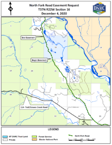 NF Road Easement Request - map