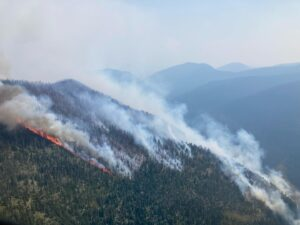 July 22, 2021 Hay Creek Fire from the air, 2 pm
