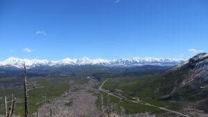 View East into Glacier NP from Glacier View Mtn, April 16, 2017 - W. K. Walker