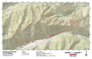 Hay Creek Fire - IR Imagery, Topo - Aug 13, 2021