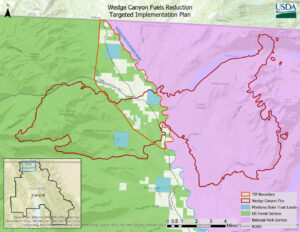 Wedge Canyon Fuels Reduction Targeted Implementation Plan Map